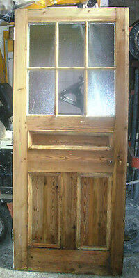 """SET of 20 Pitch Pine half glazed panel wooden doors 35"""" x 83"""" approx sell EACH"""