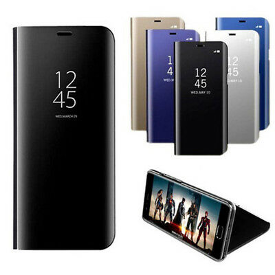 Transparent View Smart Mirror Leather Flip Case Cover For Samsung A6 A7 A8 2018