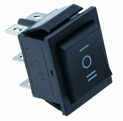 On/Off/On Large Black Rectangle Rocker Switch Car Dash Boat Switches 6-Pin DPDT