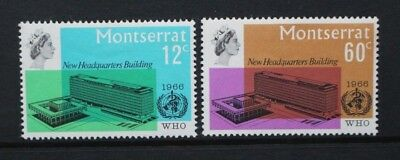 MONTSERRAT 1966 WHO Headquarters Inauguration. Set of 2. Mint HINGED. SG185/186.