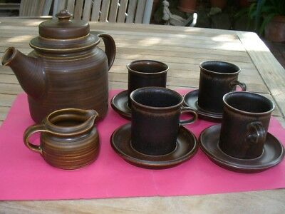Pottery Coffee Set Arabia Brand Made In Finland