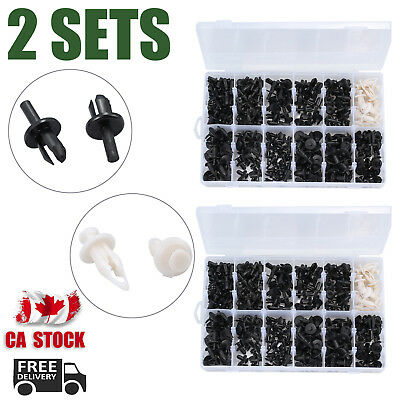 2X 350Pcs Car Body Plastic Push Pin Rivet Fasteners Trim Clip Assortments CA