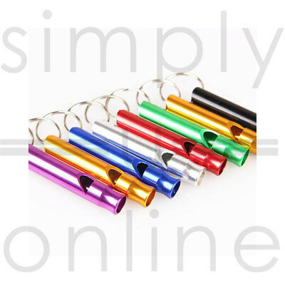 Metal High Frequency Whistle Whistles Dog Puppy Training Pet Keyring