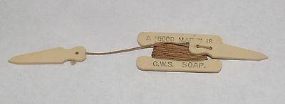 """Antique Sewing Advertising Bowls Measure Celluloid A """"good Mark"""" Is C.w.s. Soap"""