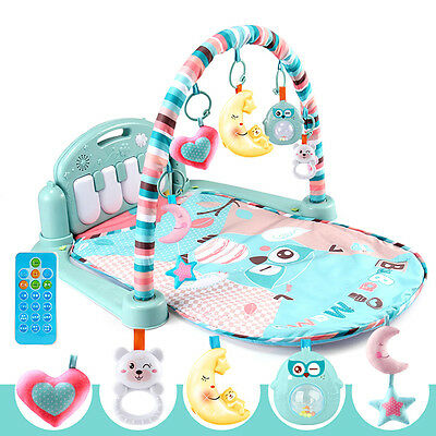 Baby Toddler Playmat Musical Develop Gym Mat Soft Floor Kids Rug Toys Carpet New