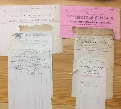 6 Receipts From Bryan And Wauseon Ohio  INV-P0171