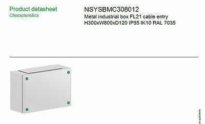 Electric Enclosure Wall Mount Box IP55 Sheet Steel Junction Box 300 x800 x120mm