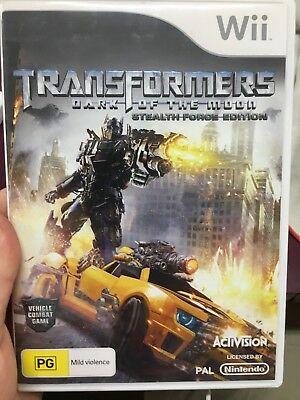 Transformers Dark of the Moon ex-rental Nintendo WII game (action game)