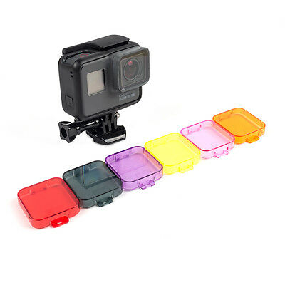 Color Filter Lens Cover For GoPro Hero 7 6 5 Black  6 color optional