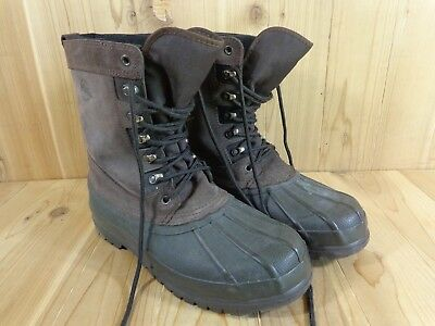 ad268de3bf1 DONNER MOUNTAIN MEN'S Leather & Rubber Ankle Duck Boots Size 10M ...