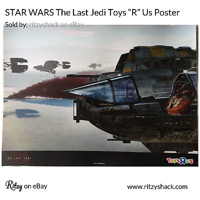 """STAR WARS TOYS """"R"""" US EXCLUSIVE PROMO POSTER - The Last Jedi TRU Toys R Us"""