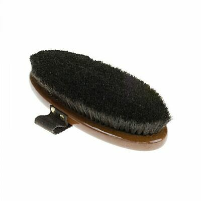 Horze Large Natural Body Brush Medium Hard with Hand Loop for Horse Grooming