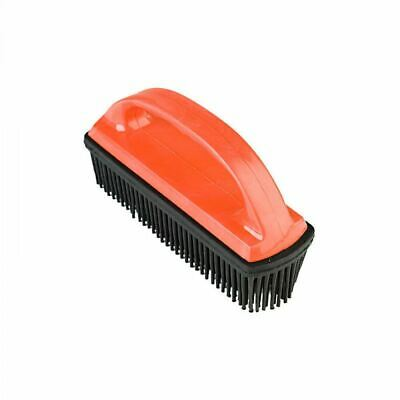 Horze Hair And Lint Remover Brush with Rubber Stubbles and Plastic Handle - Red