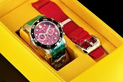 Invicta 10577 Pro Diver Scuba Chronograph Burgundy Dial Stainless Steel Watch