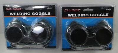 2 Pair Cal-Hawk Ventilated CuttingWelding Goggles - New