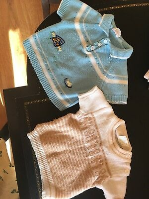 Lot Of Two Vintage Infant 1970s 1980s Novelty Sweaters