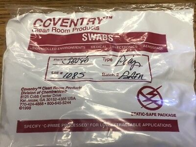 NEW 500  Coventry Clean Room Products Polyester Swab PN 38040