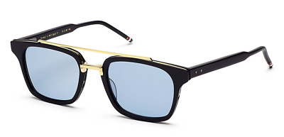 0390036e237 Authentic THOM BROWNE 803 C-NVY-GLD Sunglasses Shiny Navy 18k Gold  NEW