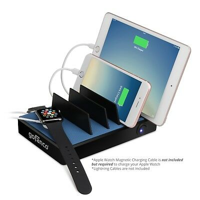 Gofanco EdgeS 5-Port USB Charging Station Stand Organizer 2.4A Fast Charge