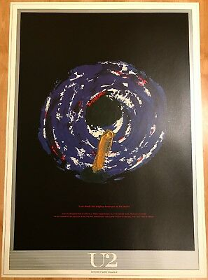 U2. LITHOGRAPHIC POSTER * MINT * 970mm x 690mm * PRINTED ON LUXURIOUS ART BOARD