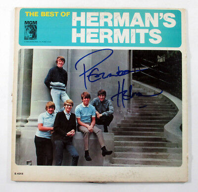 Peter Noone Signed LP Record Album The Best of Herman's Hermits w/ AUTO DF018304