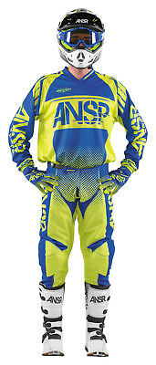 Answer Syncron Acid/Blue Jersey & Pant Combo Set Motocross A17.5 Off Road Gear