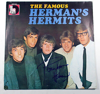 Peter Noone Signed Record Album The Famous Herman's Hermits w/ AUTO