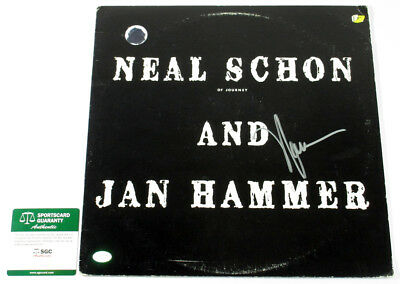Neal Schon Signed Record Album Neal Schon and Jan Hammer w/ SGC AUTO