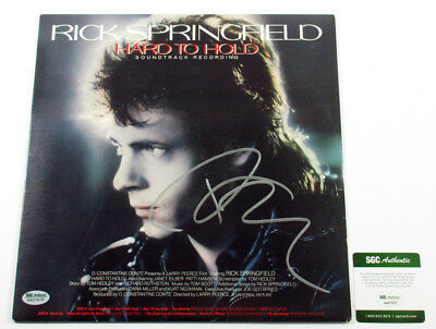 Rick Springfield Signed Record Album Hard to Hold w/ SGC AUTO