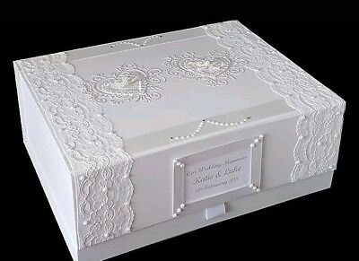 Wedding Keepsake Memory Box Personalised Stunning Large Gift Bride Engagement