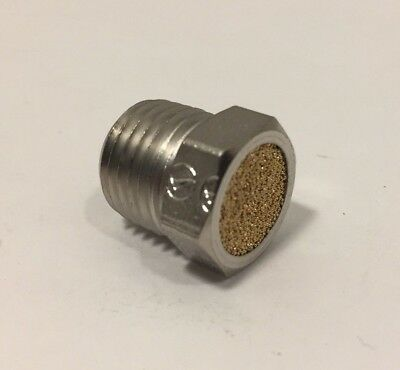 "5 Pack Pneumatic Air Breather Vent Muffler Threaded NPT 1/4"" Male 4310000095229"