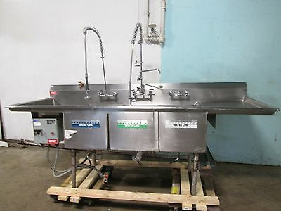 """""""american Delphi"""" Commercial Hd 3 Compartment Seafood/fish Prep/processing Sink"""