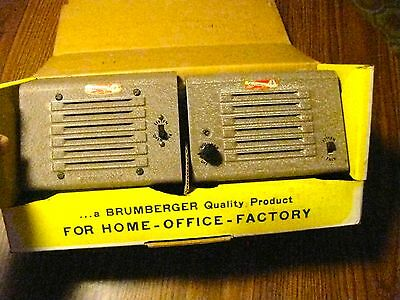 Vintage Brumberger Twin Station Intercom System Model No.299 Brooklyn, Ny Unused