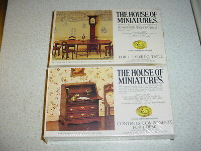 2 New X Acto House Of Miniatures Furniture Kits Three Pc Table 1 Desk