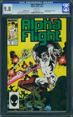 Alpha Flight #51 (CGC 9.8 NM/MT) (Marvel 1987) 1st Published Jim Lee Art!