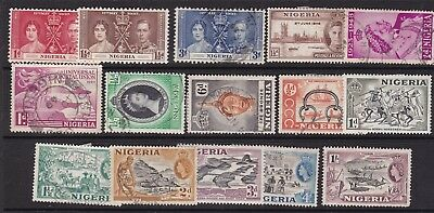 NIGERIA ^^^^^^^1937-53  mint & used collection    $$@ cam2661nig