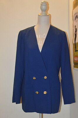 Giacca vintage blu elettrico bottoni dorati electric blue jacket golden buttons