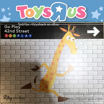 Toys R Us Times Square Go Play 42nd Street Geoffrey Rare Vintage Sign Ad Plastic