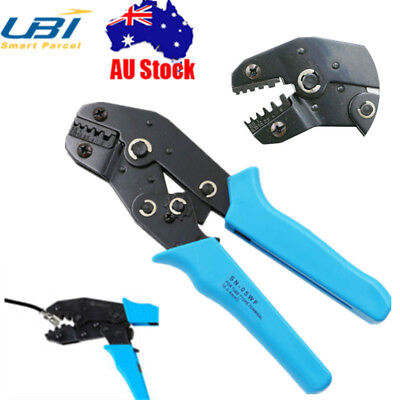 Ratchet Cable Crimper Electrical Non-insulated Ferrule Wire Plier Crimping Tool