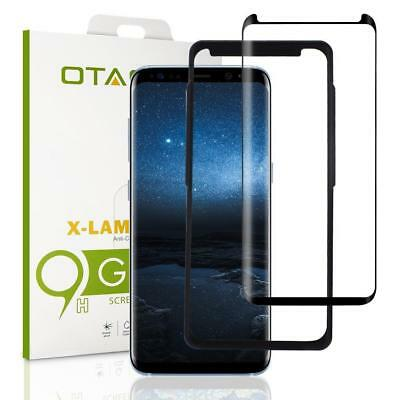 OTAO Galaxy S8 Plus Tempered Glass Screen Protector, [Case Friendly][Easy.
