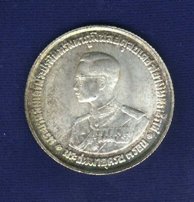 Thailand Rama Ix  (1963) 20 Baht Silver Coin, Choice Near-Brilliant Uncirculated