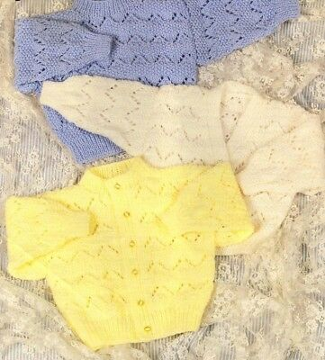 Baby TODDLER  Knitting Pattern Copy CARDIGANS JUMPERS Various Styles 8 ply