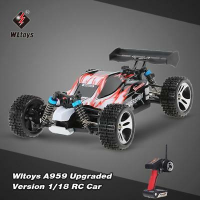 Original Wltoys A959 Upgraded 1/18 Scale 2.4G 4WD RTR Off-Road Buggy RC Car S0L2