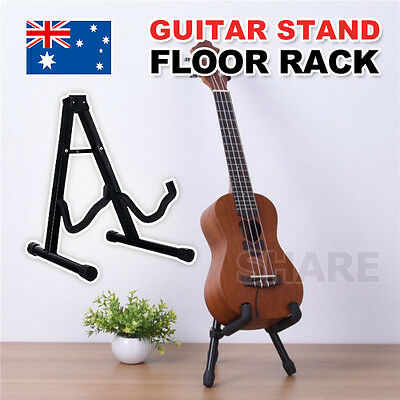 Portable Folding Electric Acoustic Bass Guitar Stand Frame Floor Rack Holder AU