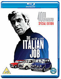 The Italian Job - 40th Anniversary Edition [Blu-ray] [1969], DVD, New, FREE & Fa