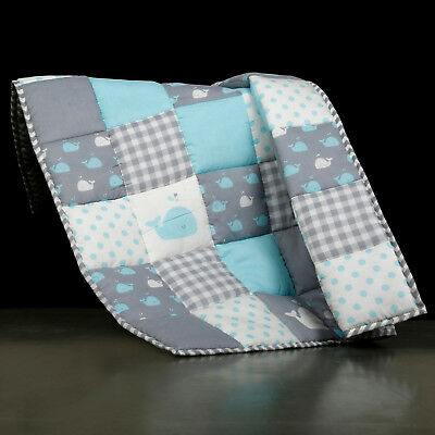Cotton Handmade Quilted Soft Floor Quilt Baby Toddler Blanket