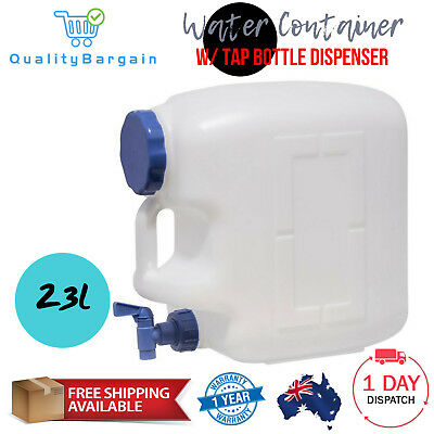 23L Water Container w/ Tap Bottle Dispenser Food Grade Camping Hiking Home
