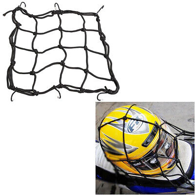 Motorcycle Flexible RetrACtable Moto Helmet Luggage Elastic Net Strap 6 Hooks
