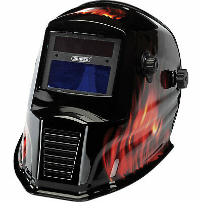Draper Auto Dimming Vario Shade Welding Helmet Black / Red
