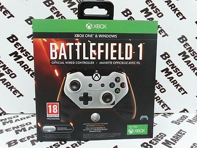 Battlefield 1 Official Wired Controller Xbox One & Windows Gamepad Pdp Fps Nuovo